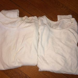 Two J.Crew White long sleeve shirts (sm and med.)